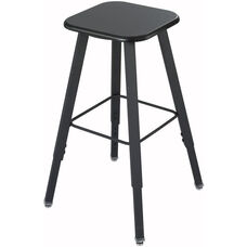 AlphaBetter® Stool with Foot Ring - Black Seat with Black Frame