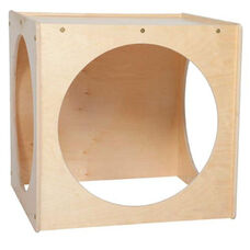 Giant Crawl Thru Baltic Birch Plywood Play Cube with Tuff-Gloss UV Finish - Assembled - 29