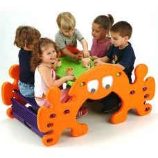 Indoor Outdoor Fade Resistant Plastic Phanty Pic-N-Rock Table and Rocker