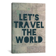 Travel the World by Leah Flores Gallery Wrapped Canvas Artwork