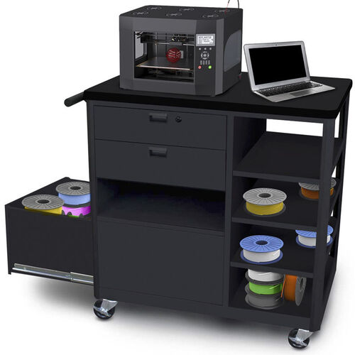 Our Steel 3D Printer Cart with Two Storage Drawers and Four Side Shelves is on sale now.