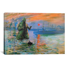 Impression Kaiju by Hillary White Gallery Wrapped Canvas Artwork - 40