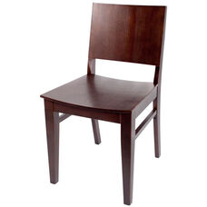 Dover Classic Walnut Wood Chair - Wood Seat