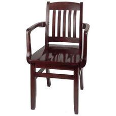Bulldog Arm Guest Chair - Wood Seat