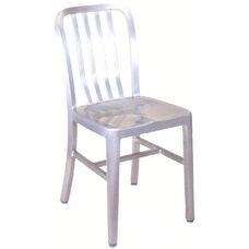 Armless Slat Back Aluminum Chair