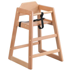 Stackable Natural Baby High Chair