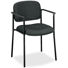 Basyx Mid-Back Stacking Guest Armchair - Charcoal Fabric