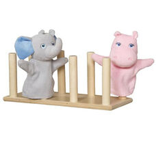 Puppet Holder with Eight Puppet Holding Dowels - Assembled - 16