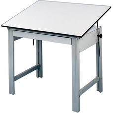 DesignMaster 4-Post Compact Drawing Table - White