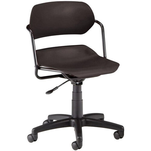 Martisa Plastic Task Chair - Black Frame and Black Seat