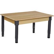 Solid Birch Hardwood Rectangular Adjustable Height Children