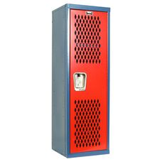 Home Team Locker - Unassembled - Blue Body and Red Door - 15