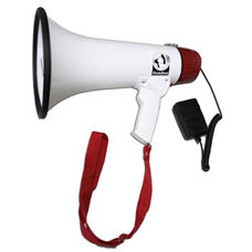 Mighty Mic 15 Watt Megaphone with Voice Recording and External Mic
