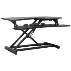 """HERCULES Series 32.6""""W Black Sit / Stand Height Adjustable Ergonomic Desk with Height Lock Feature"""