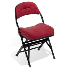 Contour Series Upholstered Seat and Back 18'' W Folding Chair with Manual Uplift Seat