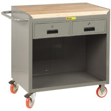 Mobile Bench Cabinet with 2 Drawers and 1.75