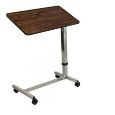 Lumex Deluxe Overbed Table with 13 Tilt Positions and Locking Casters