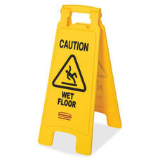 Rubbermaid Commercial Products Caution Wet Floor Safety Sign - 11