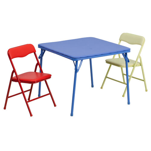 Our Kids Colorful 3 Piece Folding Table and Chair Set is on sale now.
