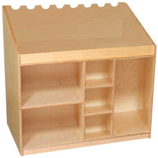Mobile Wooden Music and Listening Storage Center - 30