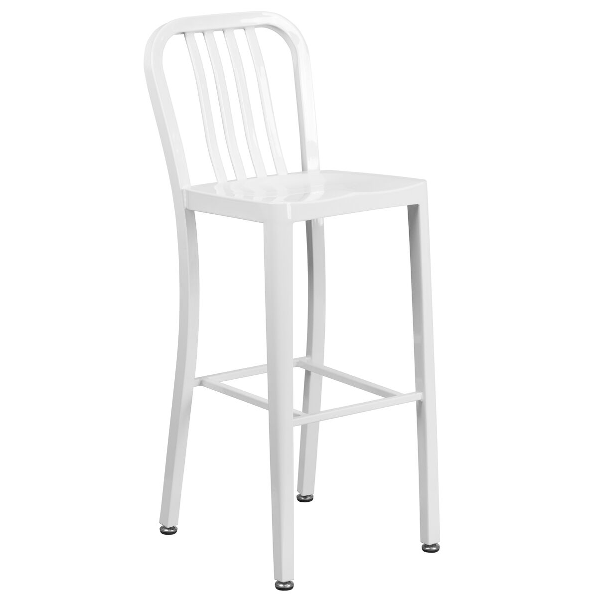 30 white metal outdoor stool ch 61200 30 wh gg for Furniture 4 schools