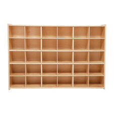 30 Cubbie Tray Baltic Birch Plywood Storage Unit with Tuff-Gloss UV Finish - 50.75