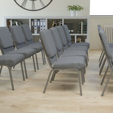 Gray Fabric with Silver Vein Metal finish