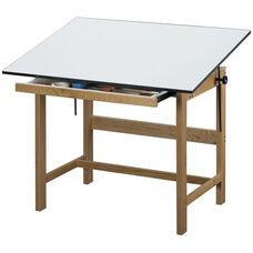Titan Solid Oak Table Oak Finish - 36