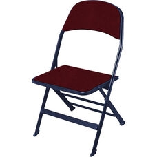 2000 Series Fabric Upholstered Seat and Back Folding Chair with 14.25