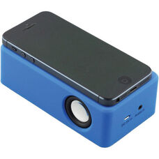 Blue Portable Wireless Universal Induction Speaker for Mobile Phones with Internal Sensor to Detect Connecting Device - 4.75