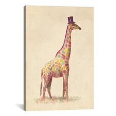 Fashionable Giraffe by Terry Fan Gallery Wrapped Canvas Artwork