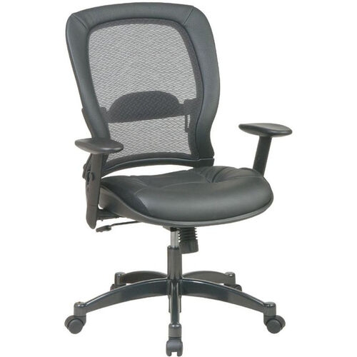Our Quick Ship NexStep Black Leather Executive Chair with Mesh Back is on sale now.