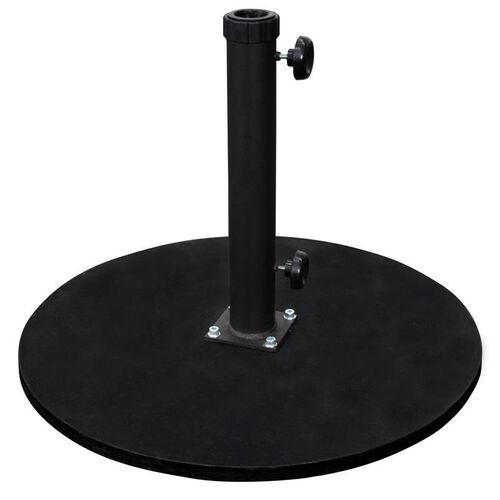 Round Black Cast Iron Commercial Grade Umbrella Base - Fits Umbrellas with 2