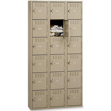Tennsco Six Tier Box 3 Column Wide Locker - Sand