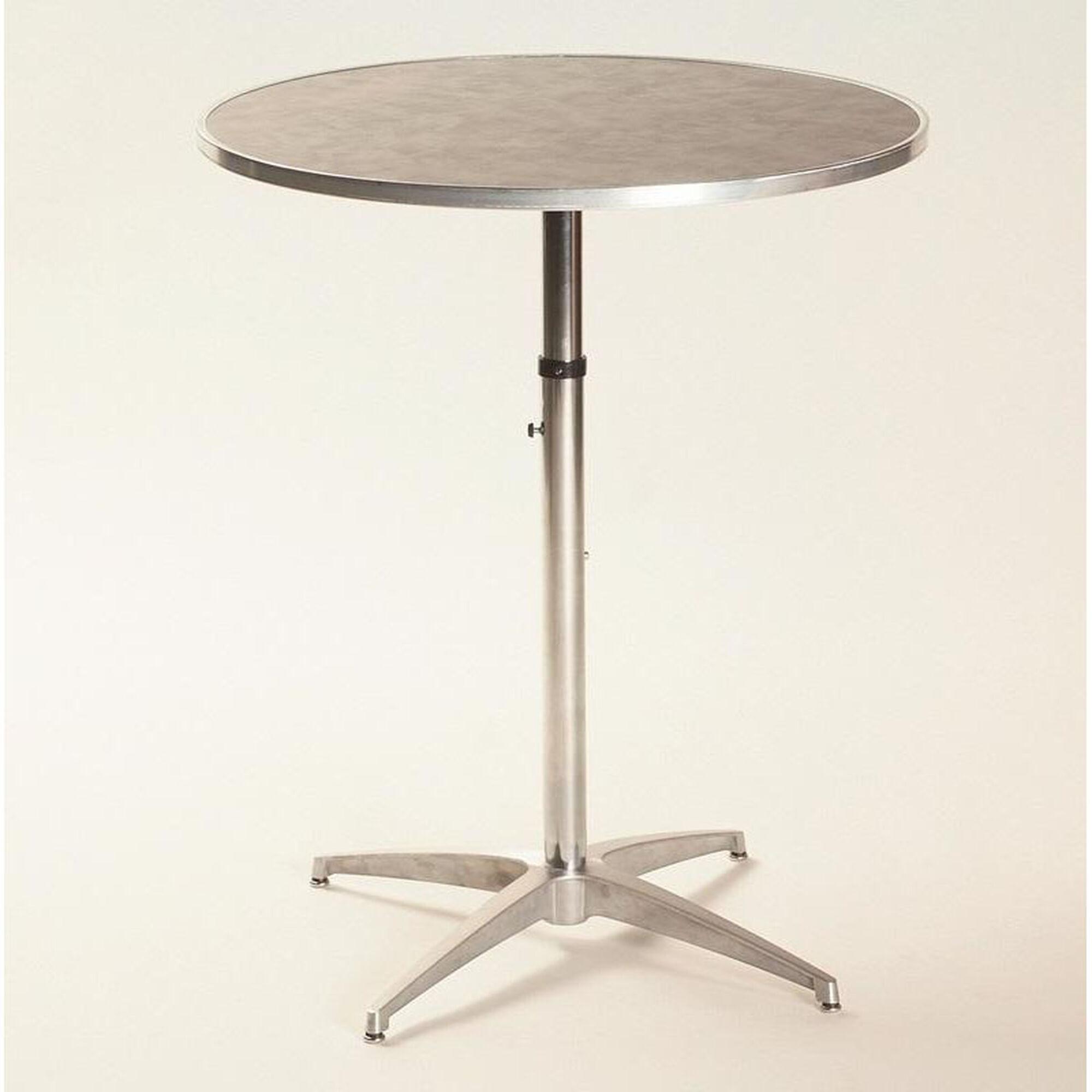 Height Adjule Round Table Ml36rdpedadj Schoolfurniture4less