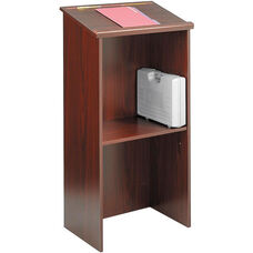 46'' H Stand Up Lectern with 23'' W x 15.75'' D Reading Surface - Mahogany