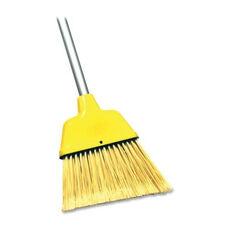 Genuine Joe Angle Broom - High Performance Bristles - Yellow