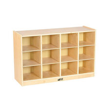 Birch Hardwood 12 Tray Cabinet with 12