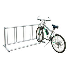 Theft Deterring Portable Galvanized Steel Single Entry Bike Rack - 24