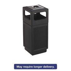 Safco® Canmeleon Ash/Trash Receptacle - Square - Polyethylene - 15gal - Textured Black