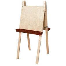 Double Sided Adjustable Art Easel with Plywood and Brown Trays - 24