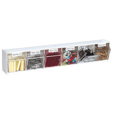 Interlocking 6 Bin Horizontal Open Tilt Storage - Set of 12 - White