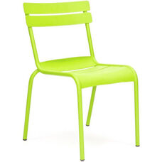 Chatou Lime Green Stackable Metal Armless Side Chair - Set of 4