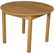 Solid Birch Round Hardwood Children's Table - 36'' Diameter x 27''H