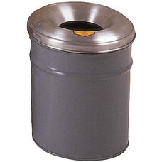 Cease-Fire® Safety Drum 6 Gallon Waste Receptacle with Aluminum Head - Gray