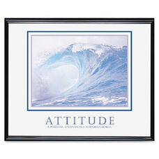 Advantus Decorative Motivational Attitude Poster