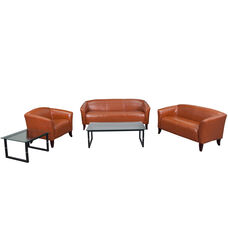 """HERCULES Imperial Series Reception Set in Cognac with <span style=""""color:#0000CD;"""">Free </span> Tables"""