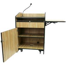 Multimedia Wired 150 Watt Sound Presentation Podium - Medium Oak Finish - 33