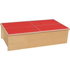 Wooden Childs Step Stool with Red No-Slip Tread - 23