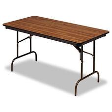 Iceberg Premium Wood Laminate Folding Table - Rectangular - 60w x 30d x 29h - Oak